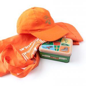Vierdaagse Cadeau Pakket Pet Oranje Winegum