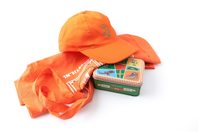 Vierdaagse Cadeau Pakket Pet Oranje Drop
